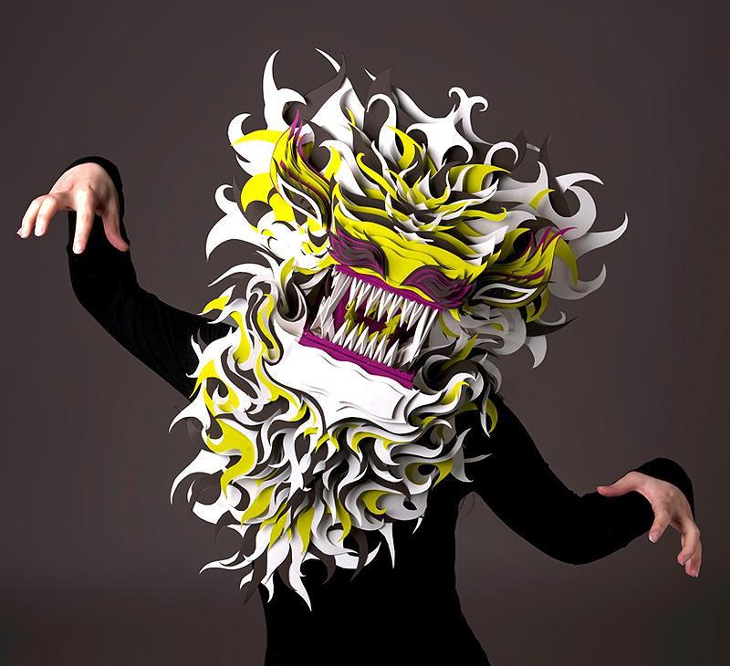 nouveau design images détaillées New York Création de masques en papier – 1 | GRAPHISME